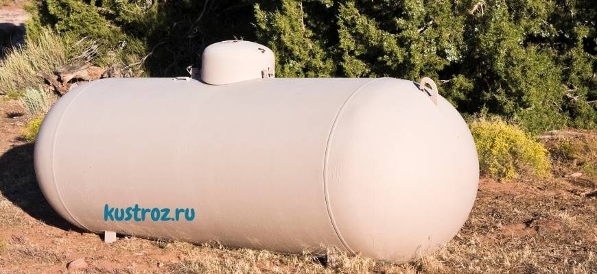 Газгольдер для газоснабжения дома